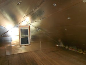 A Bangor attic with SuperAttic installed.