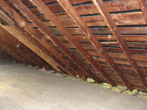 A Maine attic before installation of SuperAttic