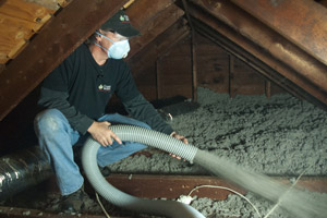 Cellulose Insulation Installation In Central Maine
